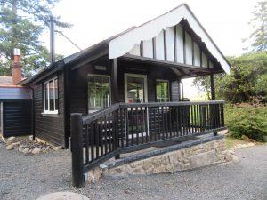Accessible veranda entrance to garden room